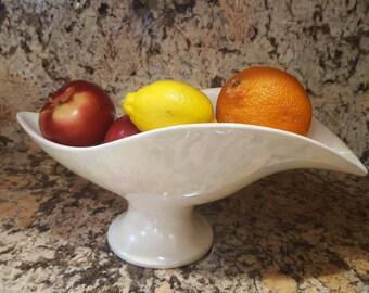 ON SALE, Boat Fruit Bowl, Royal Haeger bowl, Royal Haeger Pottery, Iridescent Bowl, Pearl Bowl, Large Boat Bowl, Fruit Bowl, Vintage Bowl