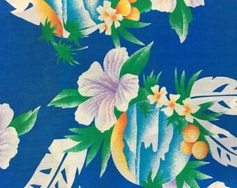 Printed Cotton Fabric of Hawaiian Print, #dr103