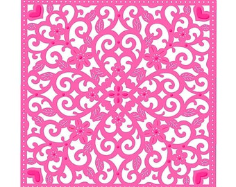 Sweet Dixie Wedding Collection Die - Decorative Background