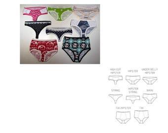 Lady Undies. Size 32-34 - 60. 8 different modells!