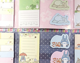 Kawaii Totoro sticky notes pad - kawaii memo pad