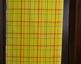 "BRIGHT SUNNY PLAID 65""x14.5"""