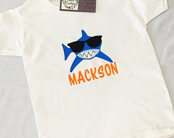 Personalized shark Toddler Shirt//shark week toddler shirt//cotton//toddler summer tee//unique
