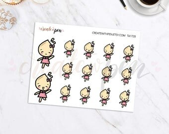 TA28 | Tinta | Jump for Joy, Happy, Hurray | Planner Stickers