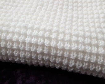 Made To Order Baby Blanket/ Knitted Baby Blanket/ Puff Stitch Blanket