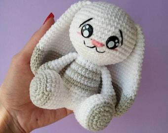 Crochet Amigurumi Bunny Rabbit Cute Toy, Handmade Amigurumi Toy, Baby Bunny