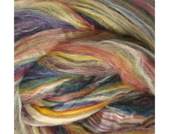 CLEARANCE Ashland Bay Merino Silk Blend Combed Top for Spinning or Felting, merino silk spinning fiber - Jamaica 4 oz.