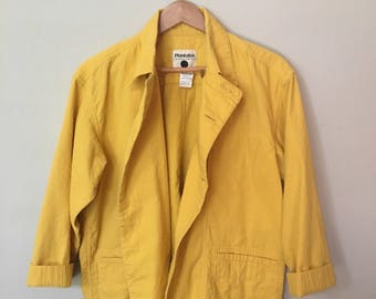 Yellow Cotton Field Jacket by Plantation