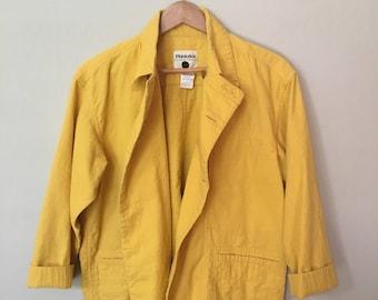 Yellow Cotton Field Jacket by Plantation
