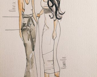 Customised fashion bridal illustration