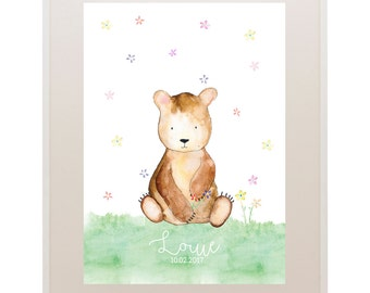 Bear Kids Art // Nursery Art // 'Oh Baby, Baby!' Baby and Kids Framed Prints // Wall Art // Children
