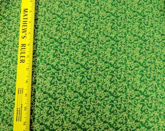 Fabri-Quilt Seasons Greetings Cotton Fabric-Green Tonal
