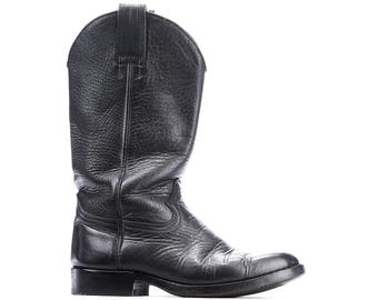 Bottes de cowboy des années 80 Vintage Festival chaussons harnais noir en  cuir cow,girl