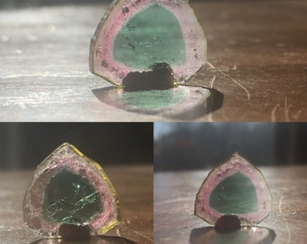 5.50ct Tri-Color Tourmaline Slice
