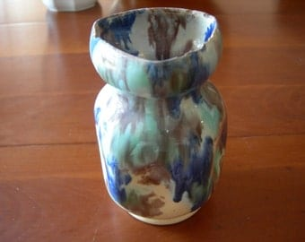 Antique stoneware glazed Pierrefonds VASE