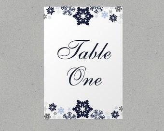 Winter Wonderland Snowflakes Table Names/ Number Personalised