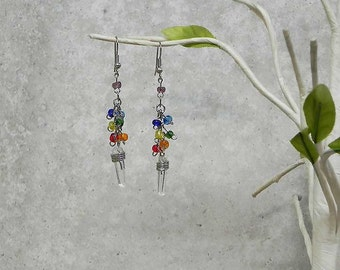 Crystal Chakra Earrings Rainbow