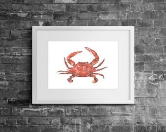 Original 'Maryland Crab' Sealife Watercolour Art Painting