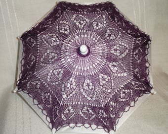 Purple Lace Parasol, Cosplay Parasol, Lace Parasol, Wedding Parasol, Lace Umbrella, Umbrella, Fashion Accessory, (Small), Free Shipping