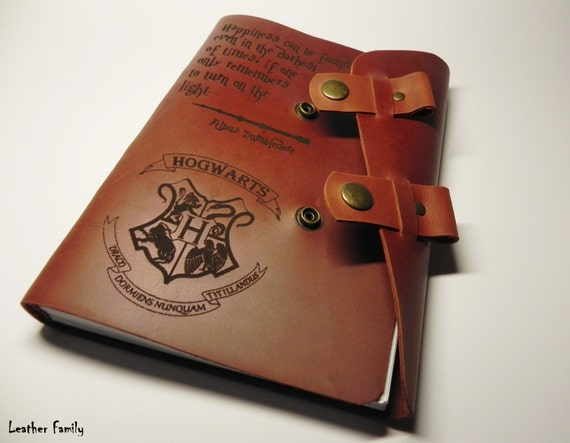 leather harry potter notebook personalized harry potter. Black Bedroom Furniture Sets. Home Design Ideas