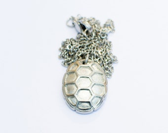 Steel Turtle Shell Necklace - UMD