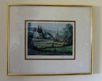 """Bill Saunders print """"Summer Shadows,"""" by Bill Saunders signed"""