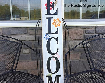 Spring welcome sign, Summer welcome signs, Welcome porch signs, Front porch decor, Rustic welcome signs, Front porch wood welcome signs