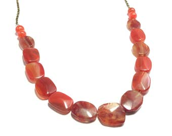Statement Red Agate Necklace