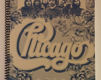Chicago Notebook Made from Recycled Vinyl Record Album Cover
