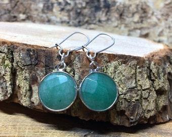 Earrings Aventurine Silver earrings