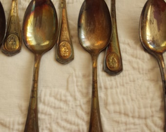 Oneida Silver Plate Silent Screen Commemorative Spoons
