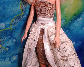 "Barbie Clothes. Barbie Doll Dress ""Gold"". Doll outfit (1/6 Scale)."