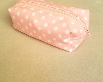 Makeup Bag, Pink Polka-dot Pattern