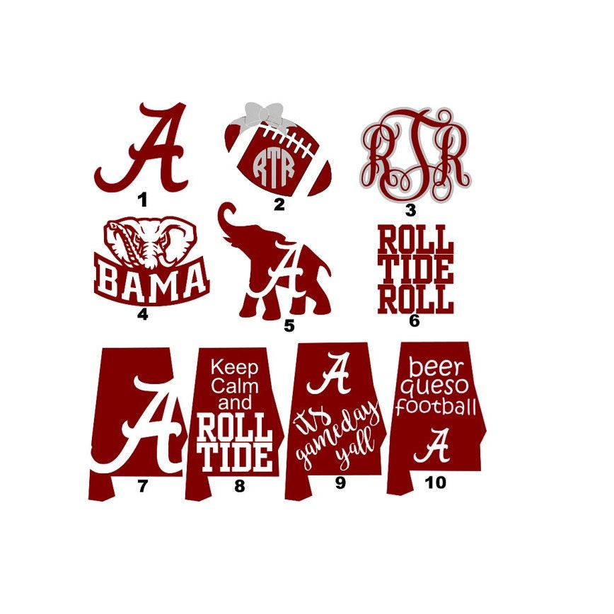 Alabama decals roll tide alabama football university of for Alabama football mural