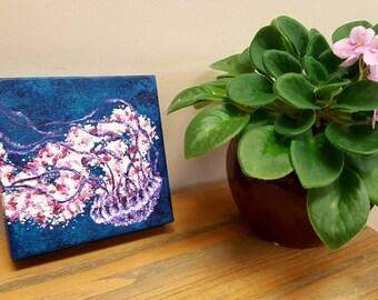 Desk art, Shelf decor, Marine animal art, Nautical nursery art, Ocean animal art, Nature nursery, Nautical bathroom art, Sea painting