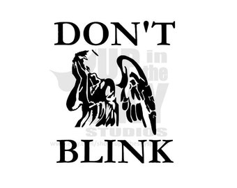 "Doctor Who Weeping Angel ""Don't Blink"" Vinyl Decal/Bumper Sticker"