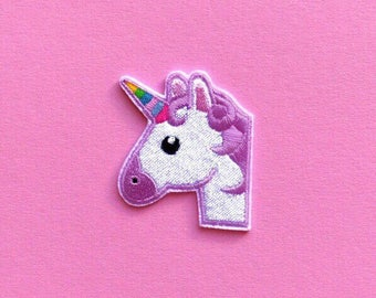 Baby Unicorn Patch Iron On Embroidered Patches Applique • Rainbow Horse Magic Pony Star Shine Cute Funny