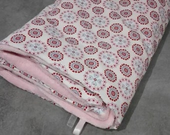 Fleece blanket cotton oeko tex pink and baby