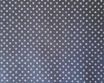 Cotton + Steel SS Blue Shibori Navy Fabric, Dot Fabric, Navy Fabric, Fat Quarter, Fabric by the Yard, Quilting Fabric, Sewing