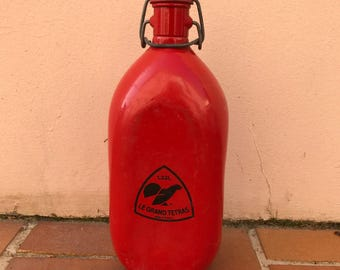 Vintage french metal-alu RED FLASK : LE grand tetras 1.33l 150320175