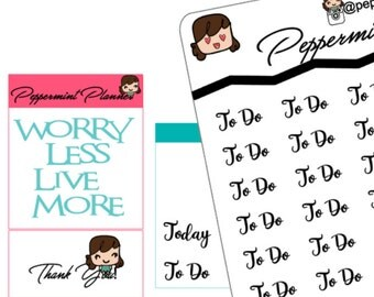 To do, Today, Planner Stickers, {#125}