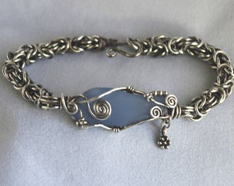 Byzantine Sea Glass Bracelet