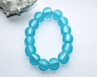 Murano glass beads, Lampwork Glass round beads, 12 mm, 15 pieces, handmade