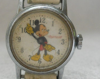 Vintage Mickey Mouse Watch Ingersoll Wind Up 1960's