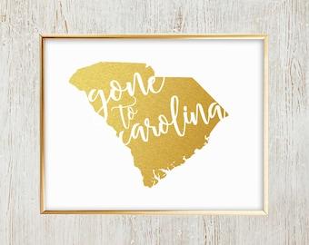Gone to Carolina printable wall art - South Carolina - James Taylor