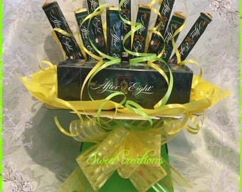 After eights Chocolate Bouquet sweet creations tablecentre sweet hamper Christmas birthday present gift party dark chocolate