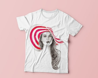 Lana Del Rey cream t-shirt