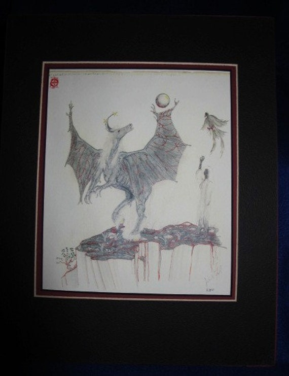 Muse For The Imagination: Limited pre-matted prints. Framing size 11x13