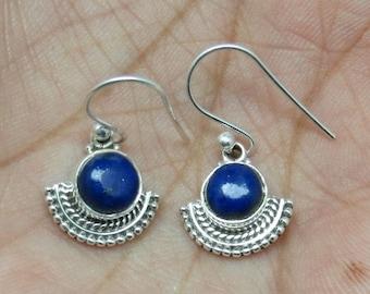 Lapis Handmade Silver Jewelry Earring