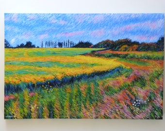 Original painting: Golden field.